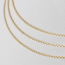 Srebrny łańcuszek simple Ag 925, pozłacany 75cm