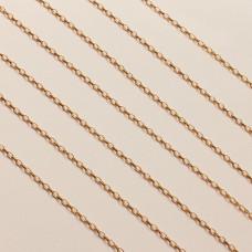 Srebrny, pozłacany łańcuch rolo podłużny diamentowany ag925  2x1,2mm