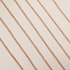 Srebrny, pozłacany łańcuch rolo diamentowany ag925 1,7mm