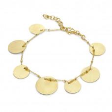 Bransoletka złocona z kółkami satynowymi ag925