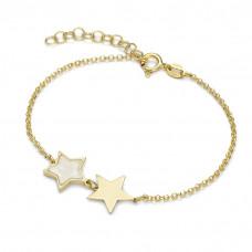Bransoletka złocona z gwiazdkami ag925