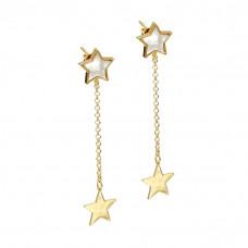 Kolczyki złocone z gwiazdkami ag925