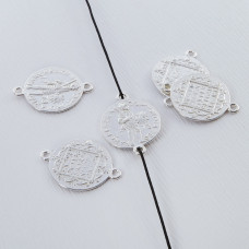 Srebrna moneta łącznik wojownik 15mm