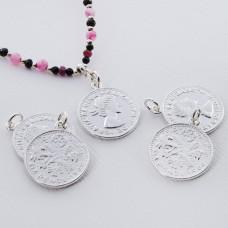 Srebrna moneta zawieszka Elżbieta II Dei Gratia Regina 17mm
