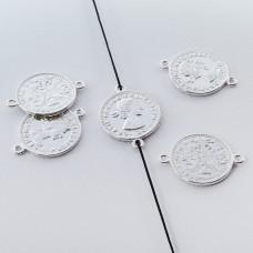 Srebrna moneta łącznik Elżbieta II Dei Gratia Regina 17mm