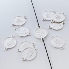 Srebrna moneta łącznik Elżbieta II 13mm