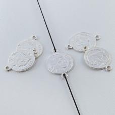 Srebrna moneta łącznik Liberty 16mm