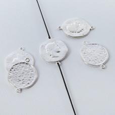 Srebrna moneta antyczna łącznik 16mm