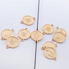 Srebrna moneta łącznik Elżbieta II pozłacana 13mm