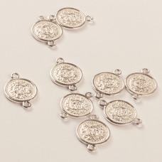 Srebrny łącznik moneta ag925 17mm