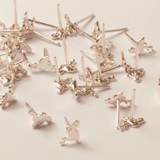 Srebrne kolczyki flamingi ag925 8x5,5mm