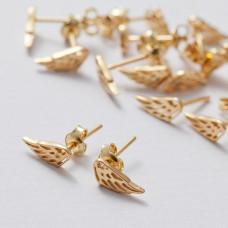 Kolczyki skrzydła ażurowe ag925 złoty