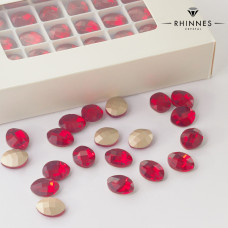 Kryształy Rhinnes leaf siam 14x11mm