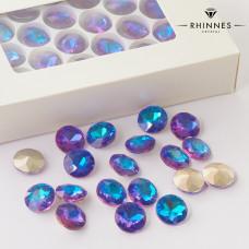 Kryształy Rhinnes flat diamond heliotrope 14mm