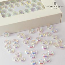 Kruształy Rhinnes ring cut crystal AB 10mm
