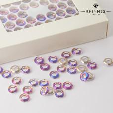 Kruształy Rhinnes ring cut heliotrope 10mm