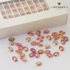 Kryształy Rhinnes oval cut volcano 10x7,4mm
