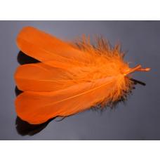 Pióra naturalne barwione koloru pomarańczowego 10-16cm