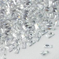 Cyrkonia bagieta fasetowana z dziurką crystal 3x6mm