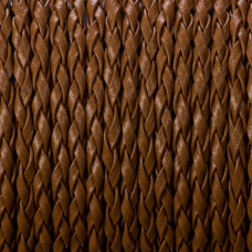 Rzemień pleciony brązowy 3mm