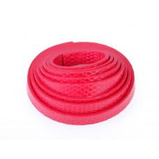 Rzemień płaski łuski czerwony 8x1,5mm