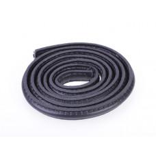 Rzemień półokrągły szyty czarny 10x5mm