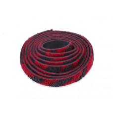 Pasek do bransoletek włochaty zebra czerwona 8x1,5mm