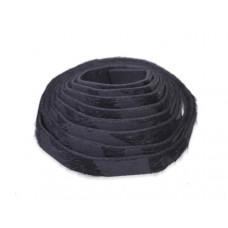 Pasek do bransoletek włochaty zebra czarna 8x1,5mm