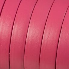 Rzemień naturalny płaski różowy 10x2mm
