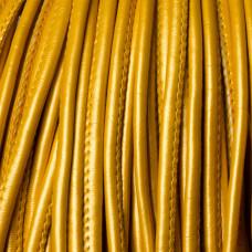 Rzemień szyty metallic gold 4mm