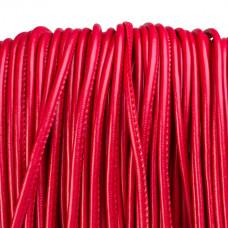 Rzemień szyty czerwony 4mm