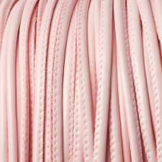 Rzemień szyty blady róż 4mm