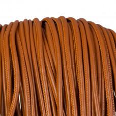 Rzemień szyty brązowy 4mm