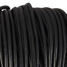 Rzemień szyty czarny 6mm