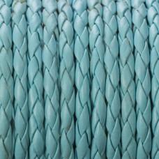 Rzemień pleciony błękitny 4mm