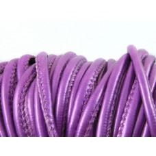 Rzemień szyty metalic fiolet 4mm
