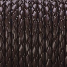 Rzemień pleciony ekologiczny brązowy 4mm