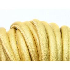 Rzemień szyty w kolorze złota 10mm