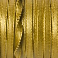 Rzemień szyty złoty płaski 8x2mm
