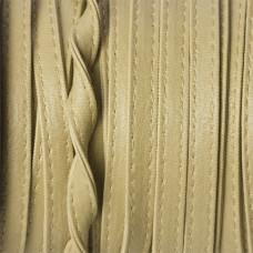 Rzemień szyty kremowy płaski 8x2mm
