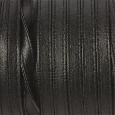 Rzemień szyty czarny płaski 8x2mm