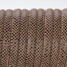 Rzemień szyty cynamonowy z rombami 6mm