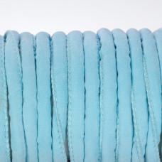 Rzemień szyty błękitny 6mm