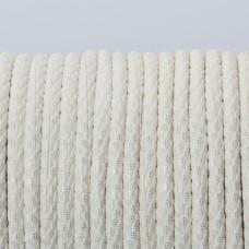 Rzemień klejony biały ze złotymi drobinkami 3mm
