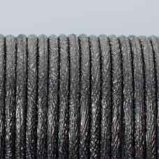 Rzemień klejony stalowo srebrzysty 3mm