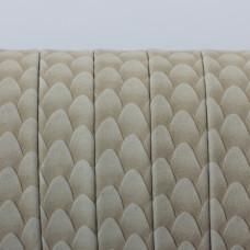 Rzemień płaski klejony beżowa łuska 11x1.5mm