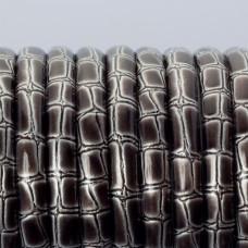 Rzemień płaski klejony srebrny bambus 6x3mm