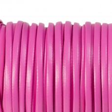 Rzemień płaski różowy 4x2mm