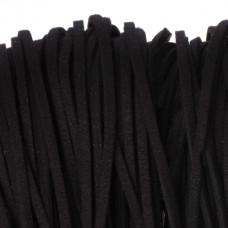 Rzemień zamszowy płaski czarny 2,5x1mm