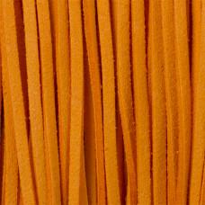 Rzemień zamszowy płaski ostra pomarańcz 2,5x1mm